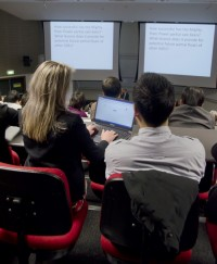 Xorro-Q in use in lecture theater